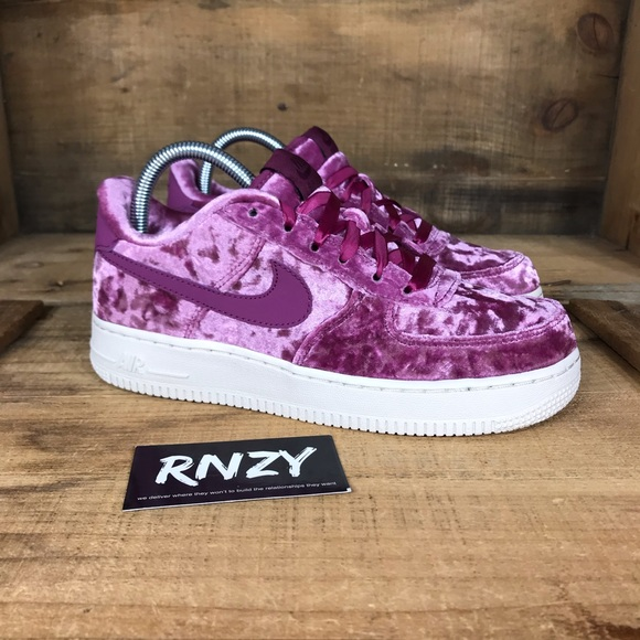 NEW Nike Velvet Air Force 1 Low Tea Berry NWT